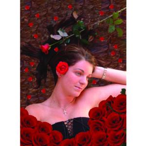 In een bed van rozen
